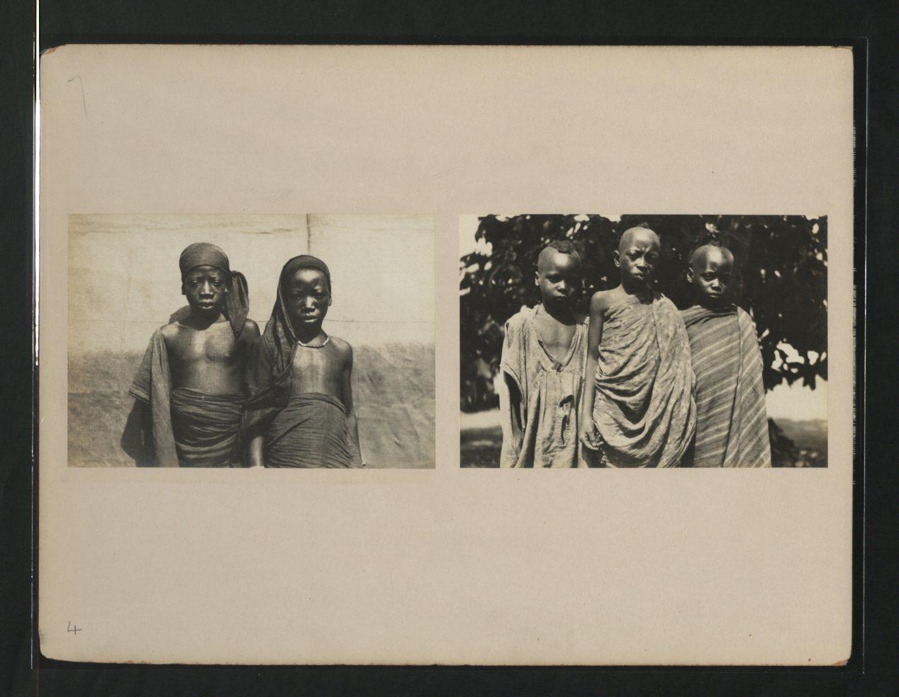 Kamberi girls and boys. Nigeria. 1920s.
