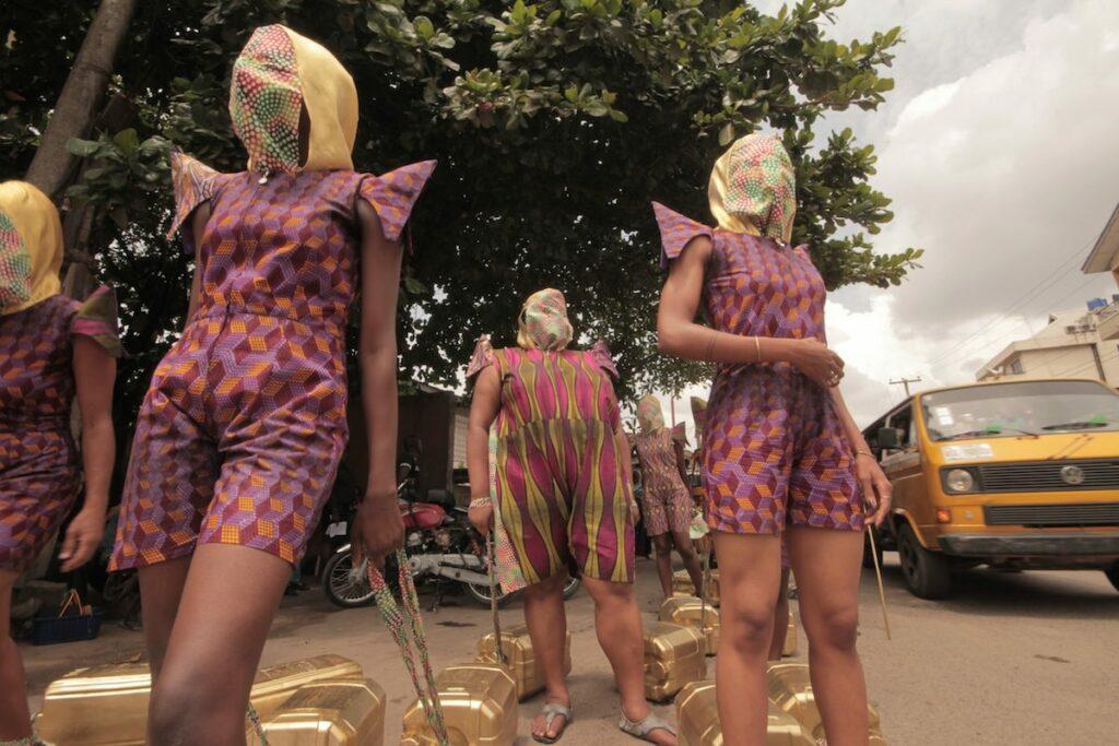 Wura-Natasha Ogunji, Will I still carry water when I am a dead woman? 2013. Photo: Ema Edosio