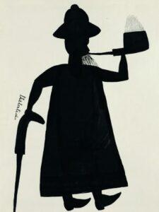 Djilatendo, Sans titre, vers 1930. Gouache et encre sur papier, 24.5 x 18 cm. Musée royal de l'Afrique centrale, Tervuren, HO.0.1.3371 © Djilatendo. Photo © MRAC Tervuren