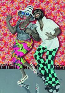 JP Mika, Kiese na kiese, 2014. Oil and acrylic on fabric, 168,5 x 119 cm, Pas-Chadoir Collection, Belgium. Courtesy of the artist. Photo: Antoine de Roux