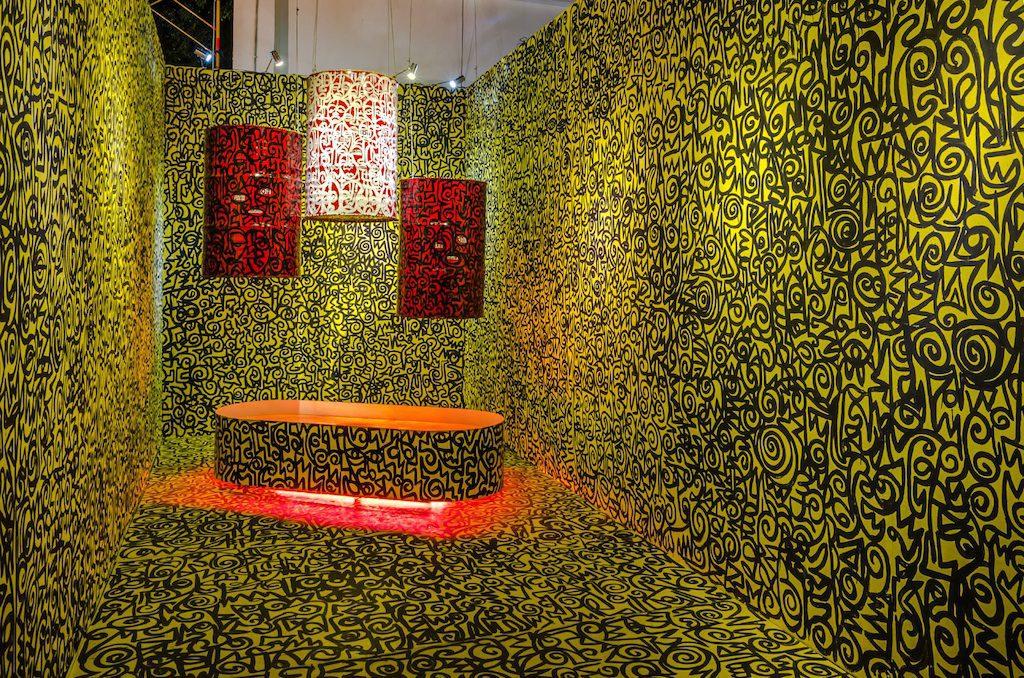 Victor Ehikhamenor, 'The Wealth of Nations', Installation, Drawing, Drum, Water. Photo Credits Kelas Pagi Yogyakarta and Jogja Biennale Jogja XIII Kopie