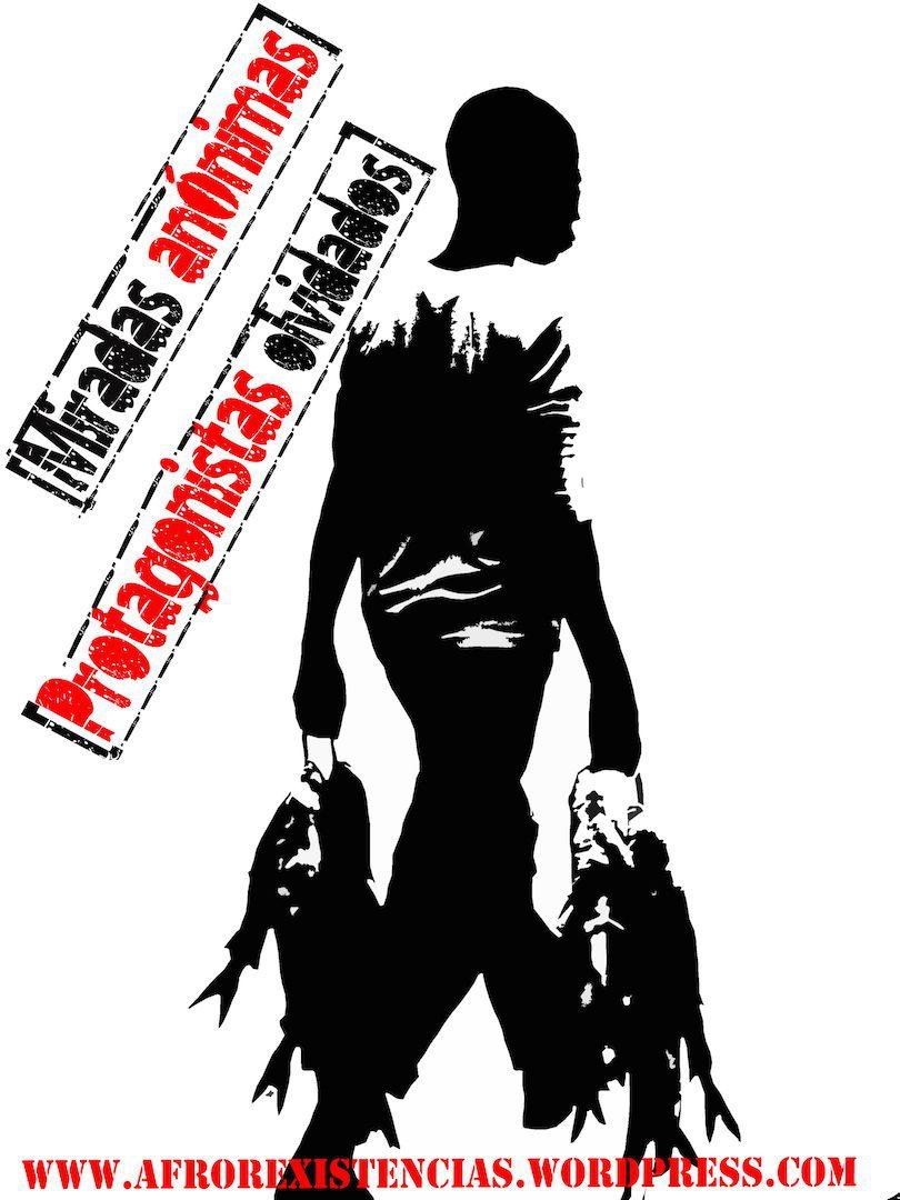 Afrorexistencia, Adriana Quiñones-León, Miradas anónimas, protagonistas olvidados, 2012. Stencil. Courtesy of Afrorexistencia
