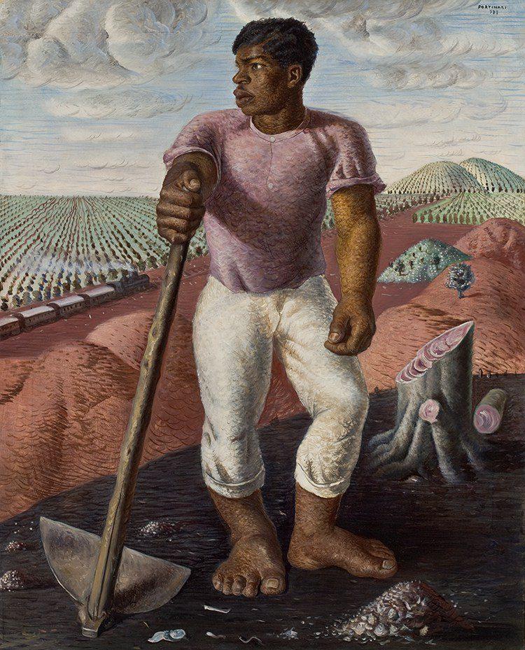 Candido Portinari's O lavrador de café (The Coffee Worker), 1934, Art Museum of São Paulo, MASP